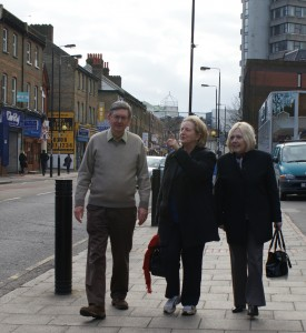 Ruth, Marlene and Steve in the High St