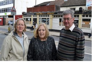 Ruth, Marlene and Steve opposite the Prince Regent